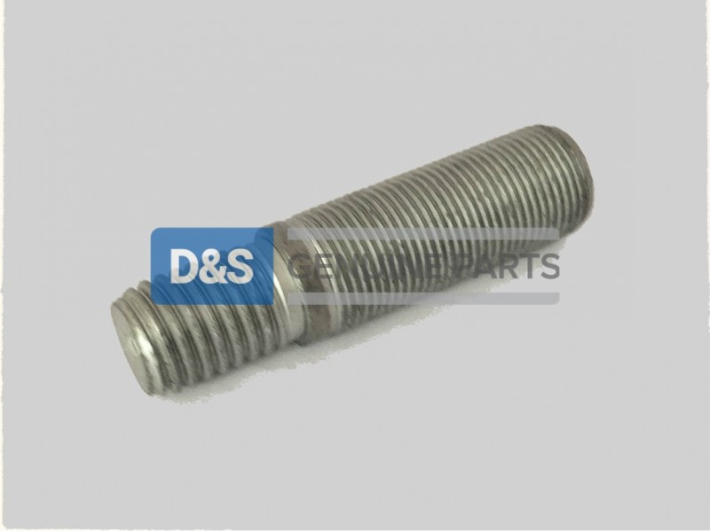 Screw-in End 1.25 X Diameter 20 pcs Double-Ended Stud with Plain Center Plain Metric DIN 939 Grade 8 Steel M12-1.75 X 55mm