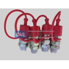 QUICK RELEASE COUPLING MALE 4 PIECES
