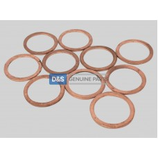 COPPER WASHER M22 X 27: MIN.10